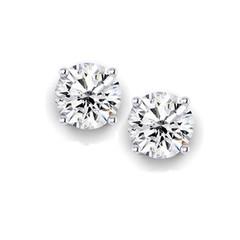 White gold diamond studs- half carat