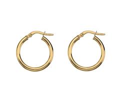 NEW 9ct gold hoop earrings
