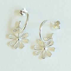 Wild Campion hoop earrings