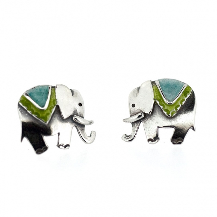 elephant earrings mexicali products sterling blues
