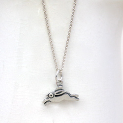 Hare Pendant with silver chain