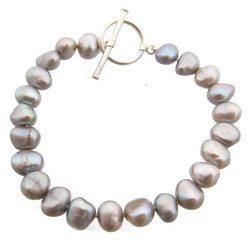 Silver Grey Baroque Pearl Bracelet