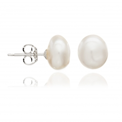 White Irregular Pearl Studs