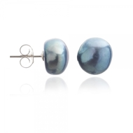 Black Irregular Pearl Studs