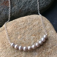Silver-grey Freshwater Pearl Necklace