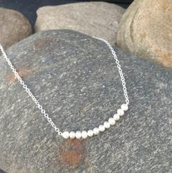 White Freshwater pearl Bar Pendant