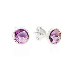 Light amethyst mini studs