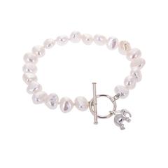 Pearl bracelet with Little Elephant