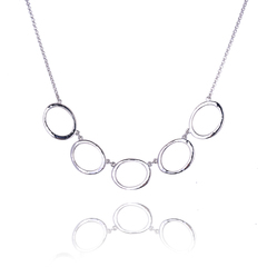Elipse 5 hoop Necklace Medium