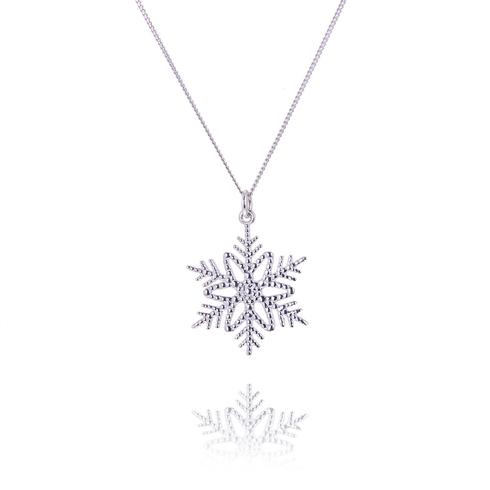 Large Icicle Snowflake Pendant