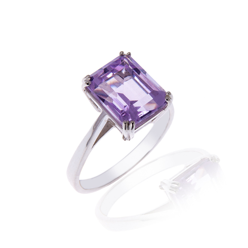 Pale Amethyst Octagon Ring