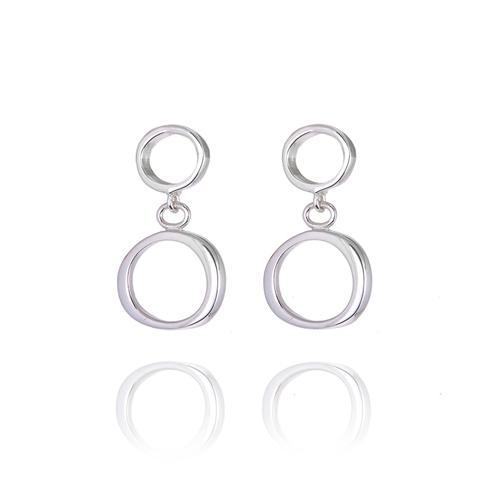 Bubble 2 part drop earrings