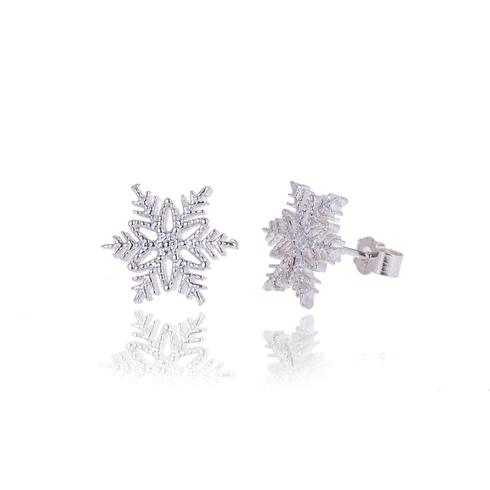 Icicle snowflake studs