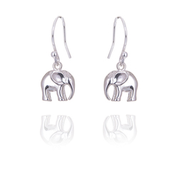 Little 3d elephant earrings