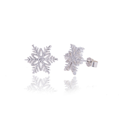 Small Snowflake studs
