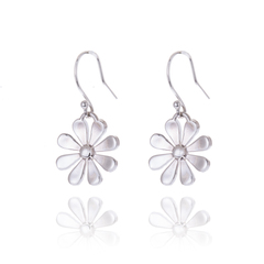 Large Daisy Drop Earrings