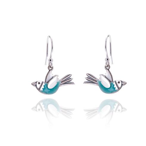 Aqua flying bird