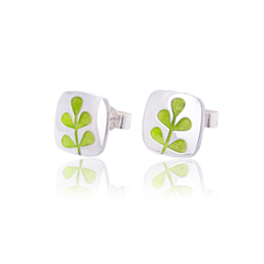 Elf Green Stem Studs
