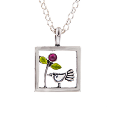 Bird in Garden Pendant