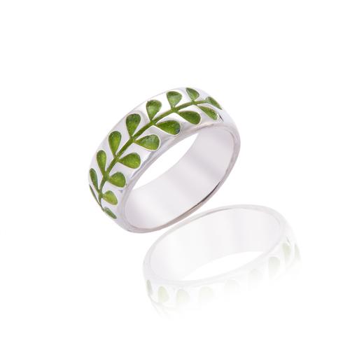 Heavyweight Green Stem Ring