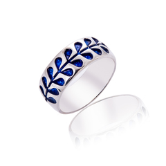 Heavyweight Deep Blue stem ring