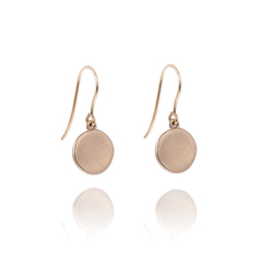 Gold Athena drop earrings