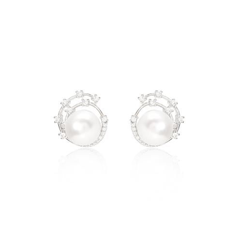 Pearl cosmos earring