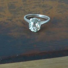 Large Green Oval Amethyst Ring
