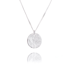 Little hammered silver coin pendant
