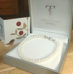 Rare baby seed pearl bracelet