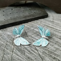 NEW Butterfly blue studs