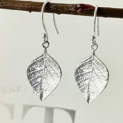 NEW beach leaf drop earrings